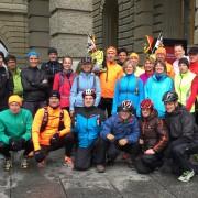 Bereit zum Startschuss auf dem Bundesplatz in Bern.